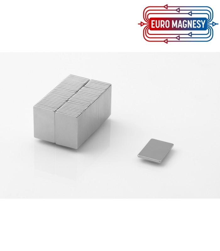 Neodymium block magnet  15x10x1 thick N38