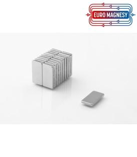 Neodymium block magnet 20x10x2 thick N38