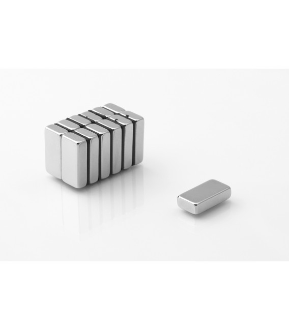 Neodymium block magnet 20x10x5 thick N38H