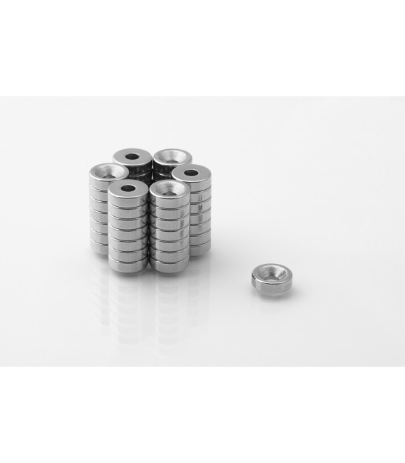 Ring magnet 10x(7x3,5)x3 with countersunk borehole 10x(7x3,5)x3 N38