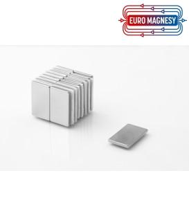 Neodymium block magnet 25x15x2 thick N38