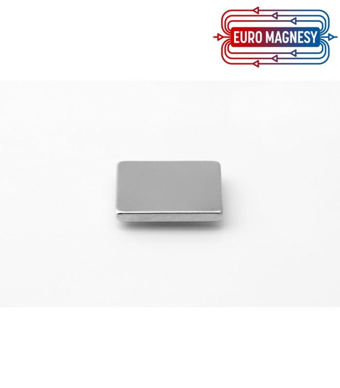 Neodymium block magnet 25x20x3 thick N38
