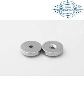 Ring magnet 25x(7,5x4,5)x5 with countersunk borehole N38