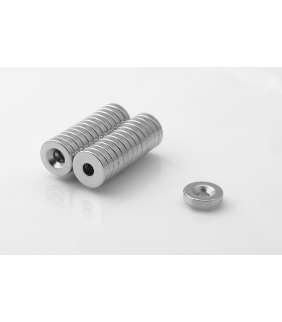 Ring magnet 14x(8x4)x3 with countersunk borehole N38