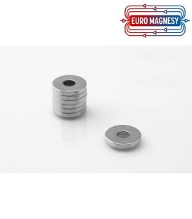 Neodymium ring magnet   17x6x2,5 thick N38