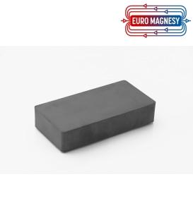Ferrite block magnet  100x50x20 thick Y30