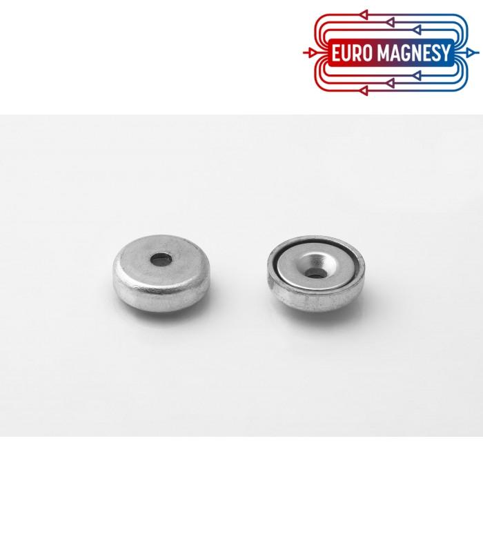 Pot magnet 16x6,6/3,5x4,5 mm countersunk hole