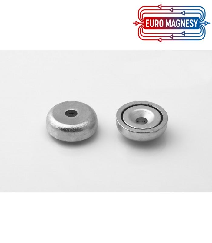 Pot magnet 20x9-4,5x6 mm countersunk hole