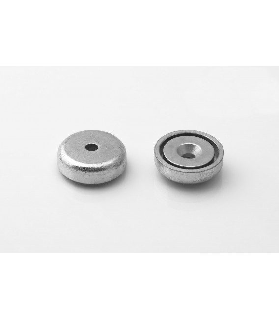 Pot magnet 25x9/4,5x7 mm countersunk hole