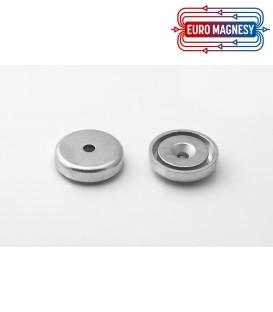 Pot magnet  32x11/5,5x7 mm countersunk hole