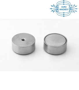 Pot magnet with internal thread 50x20xM8