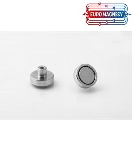 Pot magnet 20x6 mm with internal thread M4