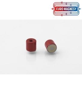 AlNiCo Pot magnet with internal thread 8x8xM3