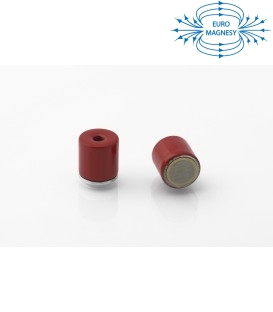 AlNiCo Pot magnet with internal thread 10x10xM3