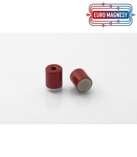 AlNiCo Pot magnet with internal thread 13x15xM4