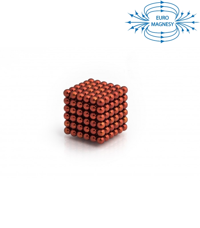 Neocube sphere magnet Ø 5 mm orange