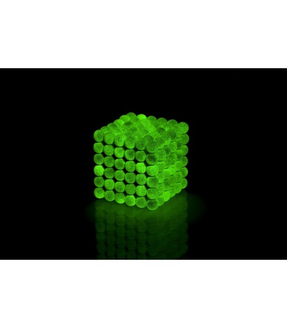 Neocube sphere magnet Ø 5 mm fluorescent