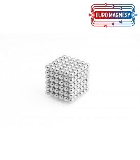Neocube sphere magnet Ø 5 mm silver