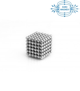 Neocube sphere magnet Ø 5 mm chrome-plated