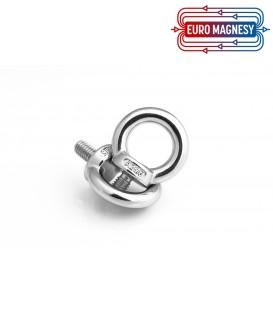 Threaded eyelet bolt thread M6  stainless steel