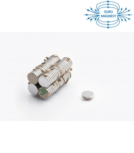 MW 12x2 N38 z klejem 3M Magnes neodymowy