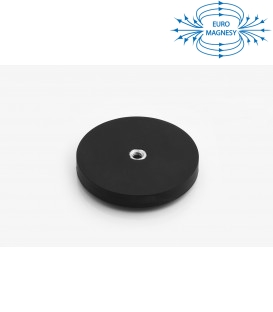 66 mm rubberised pot magnet with internal thread
