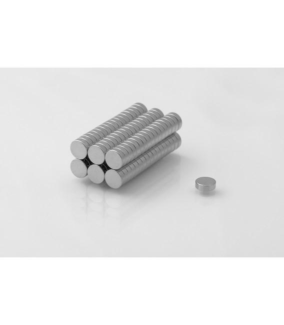Neodymium disc magnet  6x2 thick N38