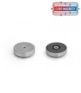 Pot magnet with internal thread 50x10xM6