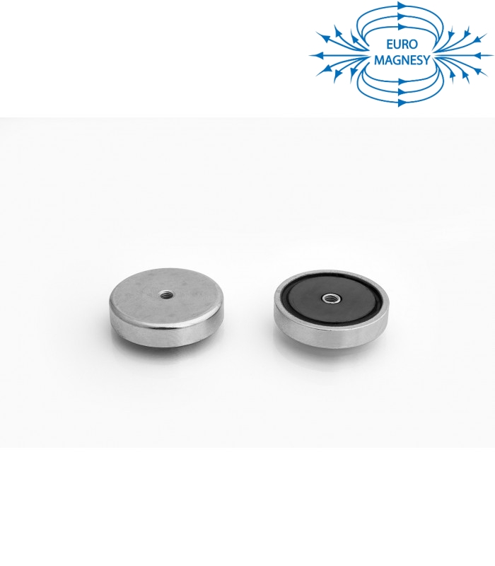 Pot magnet with internal thread 32x7xM4