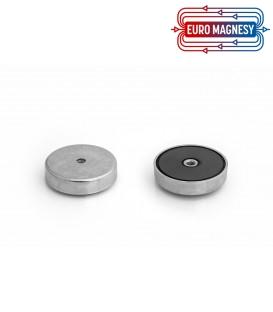 Pot magnet with internal thread 63x14xM8