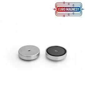 Pot magnet with internal thread 40x8xM4