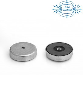 Pot magnet with internal thread 80x18xM10