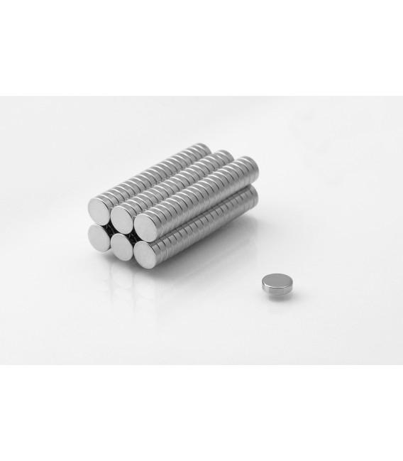 Neodymium disc magnet  7x2 thick N38