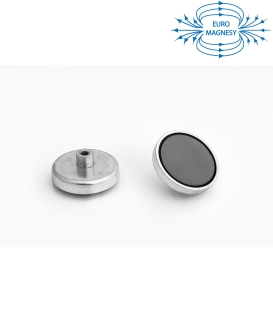 Ferrite pot magnet with internal thread  47x9xM6