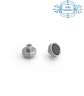 Ferrite pot magnet with internal thread  20x6xM4