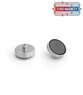 Ferrite pot magnet with internal thread  36x8xM4