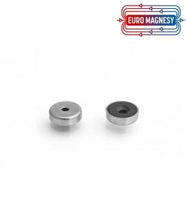 Pot magnet 16x6,5/3,3x4,5 mm countersunk hole