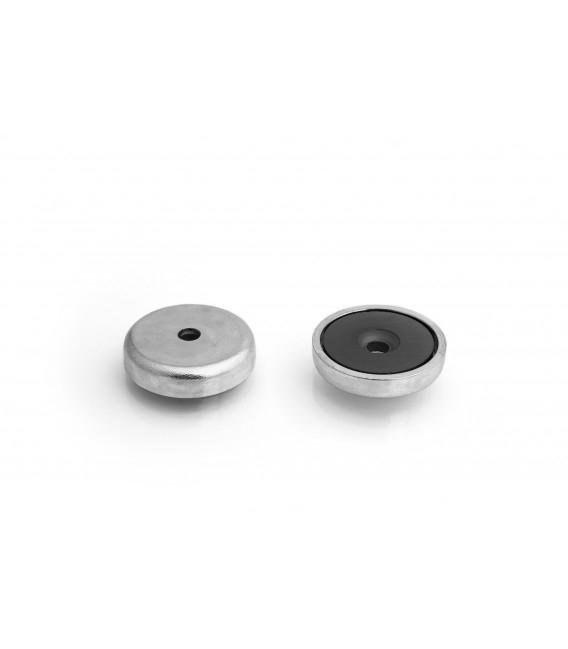 Pot magnet 32x11,5/5,5x7 mm countersunk hole
