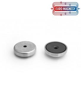 Pot magnet 40x13/5,5x8 mm countersunk hole