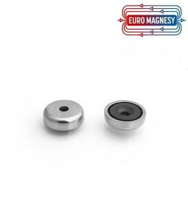 Pot magnet 25x11,5/5,5x7 mm countersunk hole