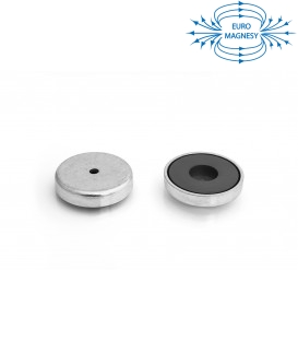Ferrite pot magnet with cylindrical borehole 50x21x5,5x10