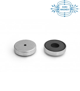 Ferrite pot magnet with cylindrical borehole 63x23x6,5x14