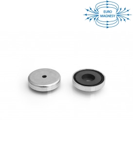 Ferrite pot magnet with cylindrical borehole 40x17x5,5x8