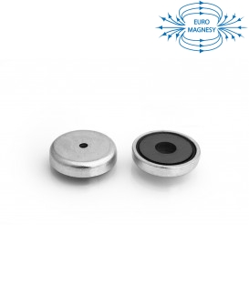 Ferrite pot magnet with cylindrical borehole 32x6x4x7