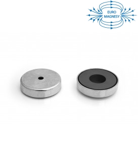 Ferrite pot magnet with cylindrical borehole 80x32x11x18