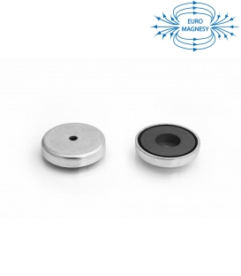 Ferrite pot magnet with cylindrical borehole 47x19x6x9