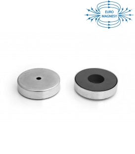 Ferrite pot magnet with cylindrical borehole 97x34x11x22