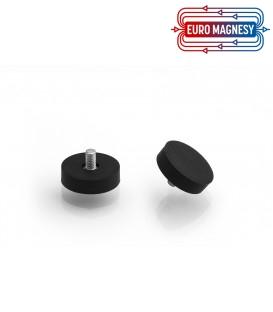 UM 22x6xM4 zewn. x12,5 mm Uchwyt magnetyczny w obudowie gumowej