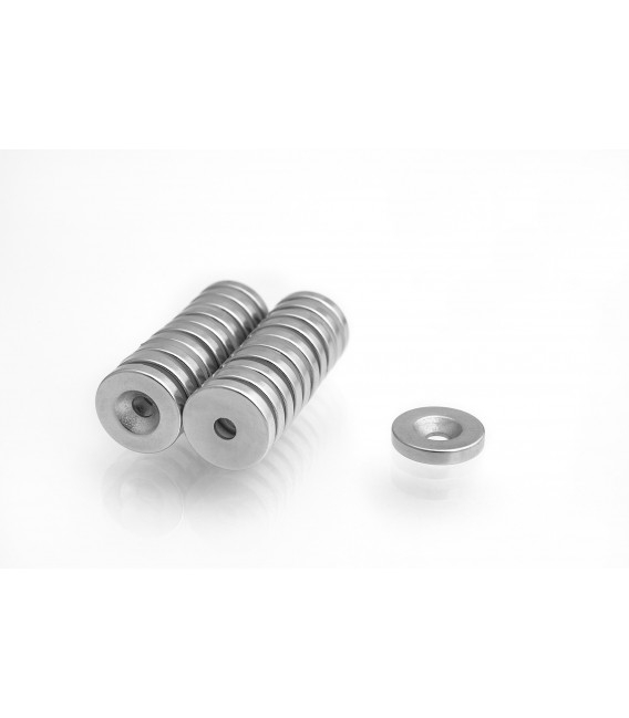Ring magnet 16x(8x4)x3 with countersunk borehole N38