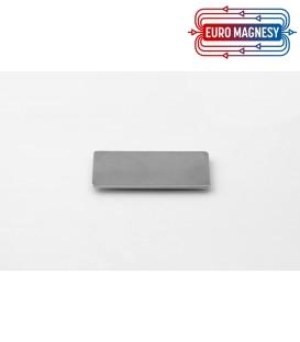 Neodymium block magnet  40x22x2 thick N38